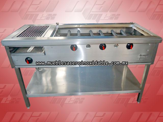 Equipo de cocci n para su cocina asadores planchas - Plancha de acero inoxidable para cocina ...